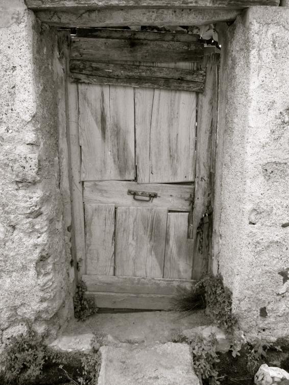 Garden door.